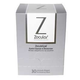 Zocuwipe Eyelid Cleanser and Moisturizer Wipes 30 count